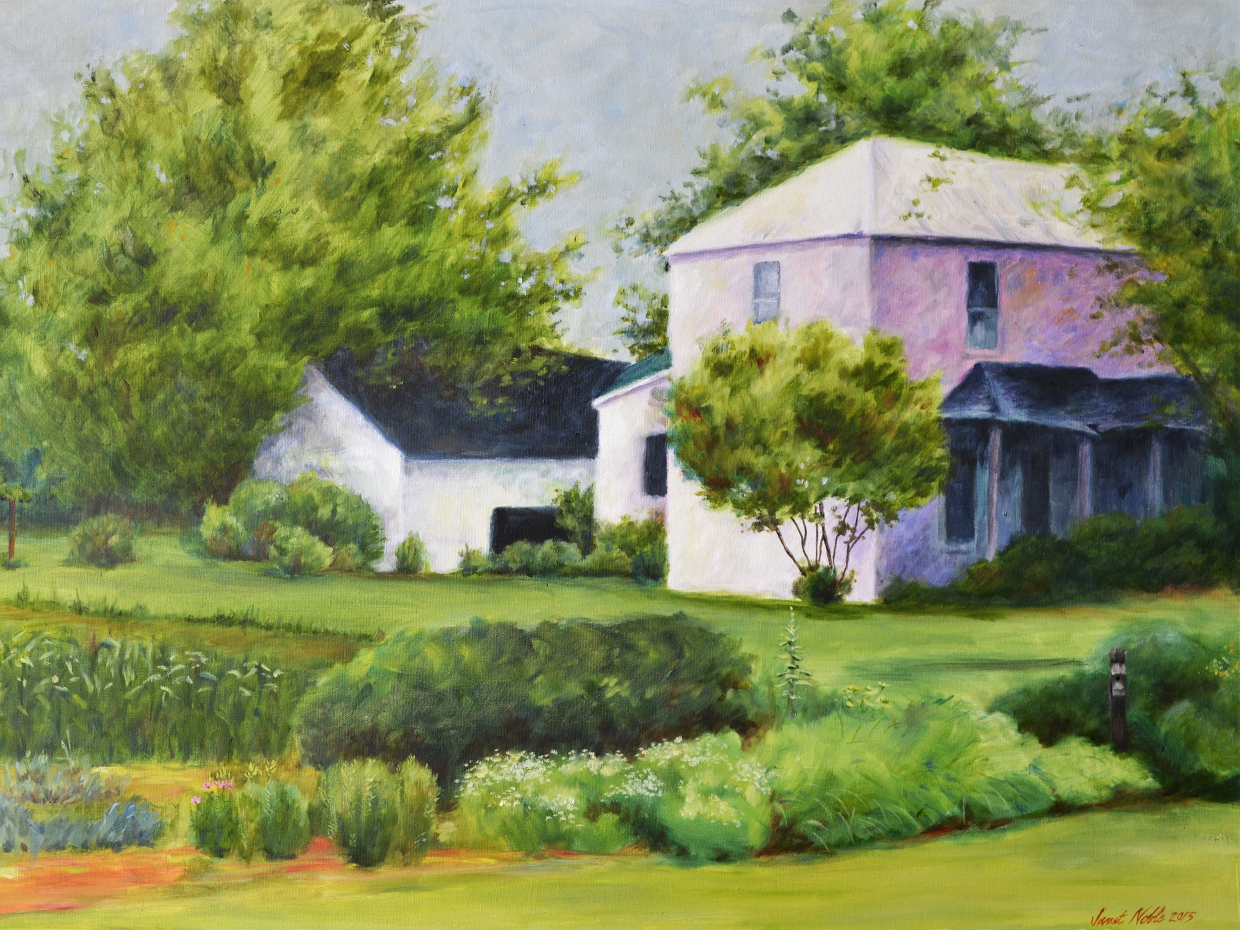Country Garden   Oil on canvas, 24 x 36, $325.00 Prints, 14 x 11, $25.00 Cards, 5/pack, $8.00