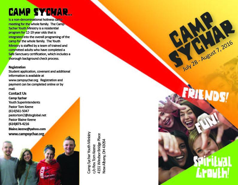 Camp Sychar 3 Panel Brochure-outside