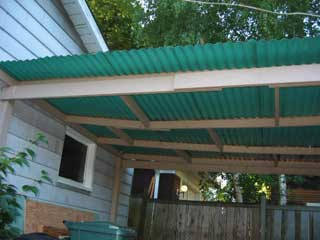 Patio cover before demolition, source for wall panels