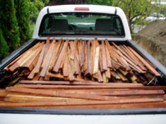 One truckload of salvaged lath
