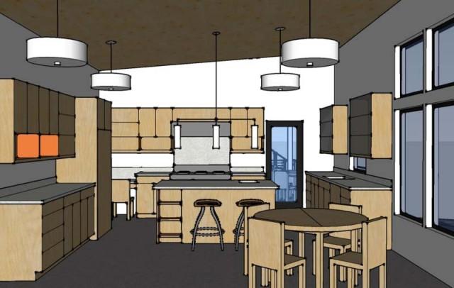 3D of kitchen