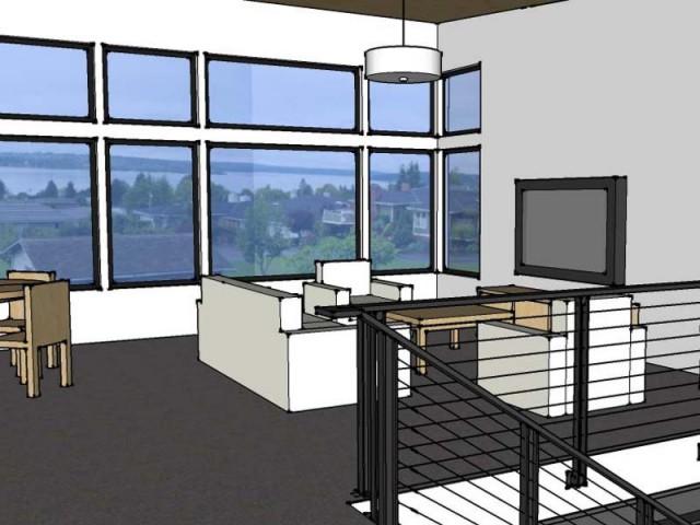 3D of living room