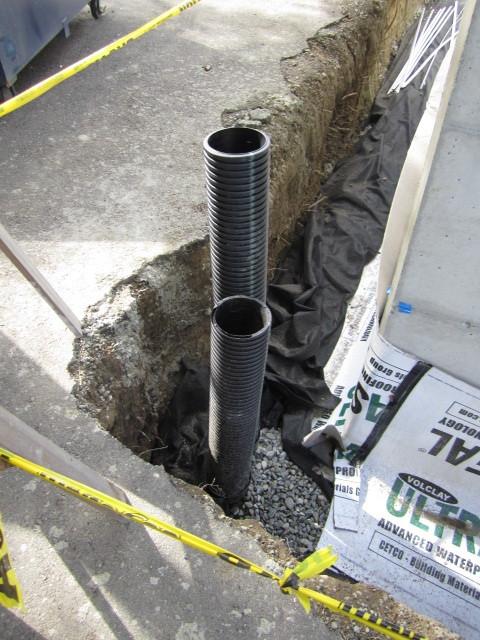 polyethylene footing drain pipe