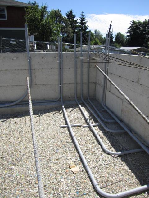PVC buried conduit