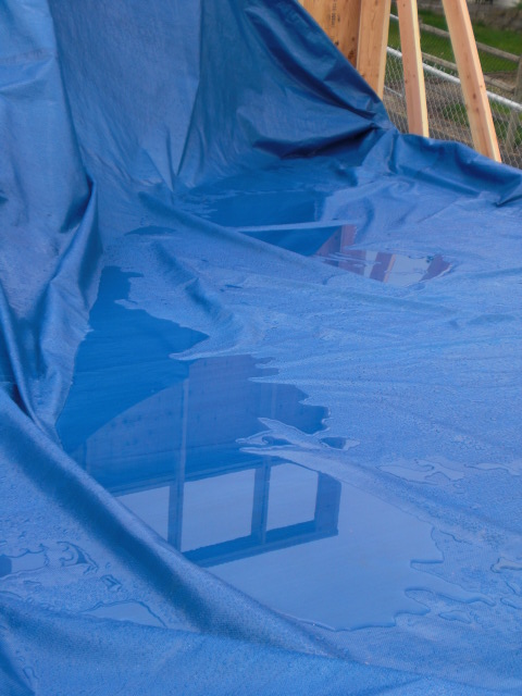 tarp on floor deck