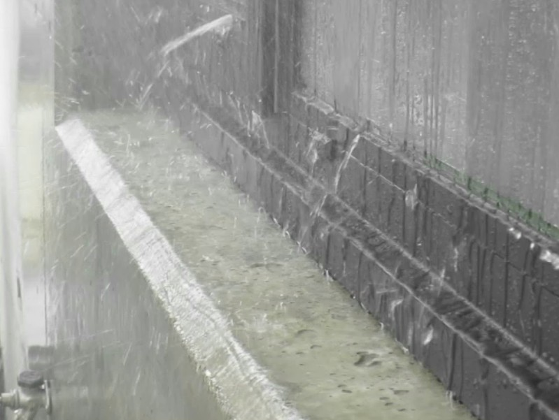 simulated rain storm