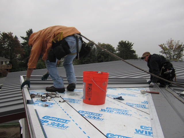 placing pans over underlayment