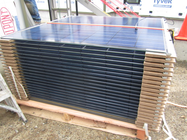 PV panels delivered