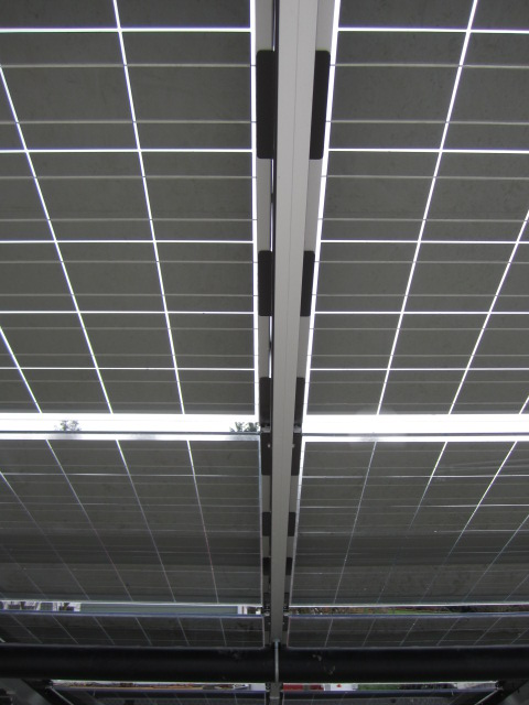 PV panels from below
