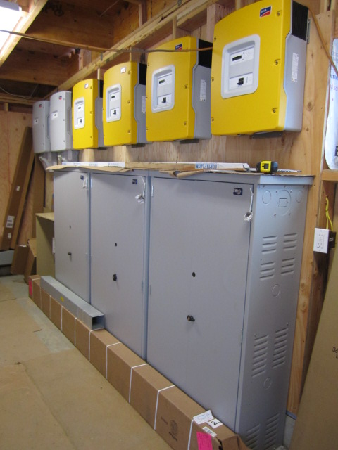 inverters over battery cabinets