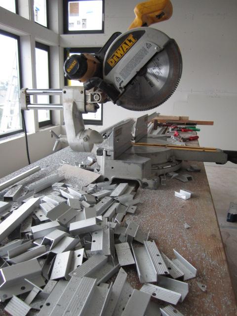 aluminum reveal cut offs