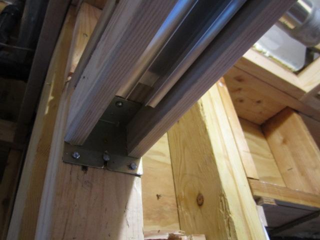 pocket door frame rebuilt with FSC