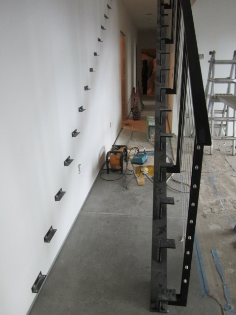steel railing and wall angles
