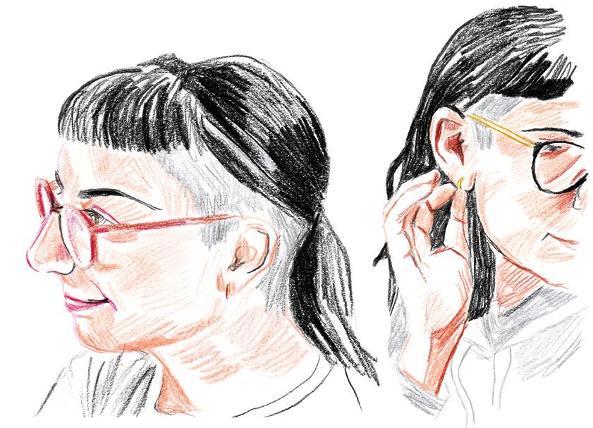 Portrait of illustrator  Gizem Vural, for Outlier .