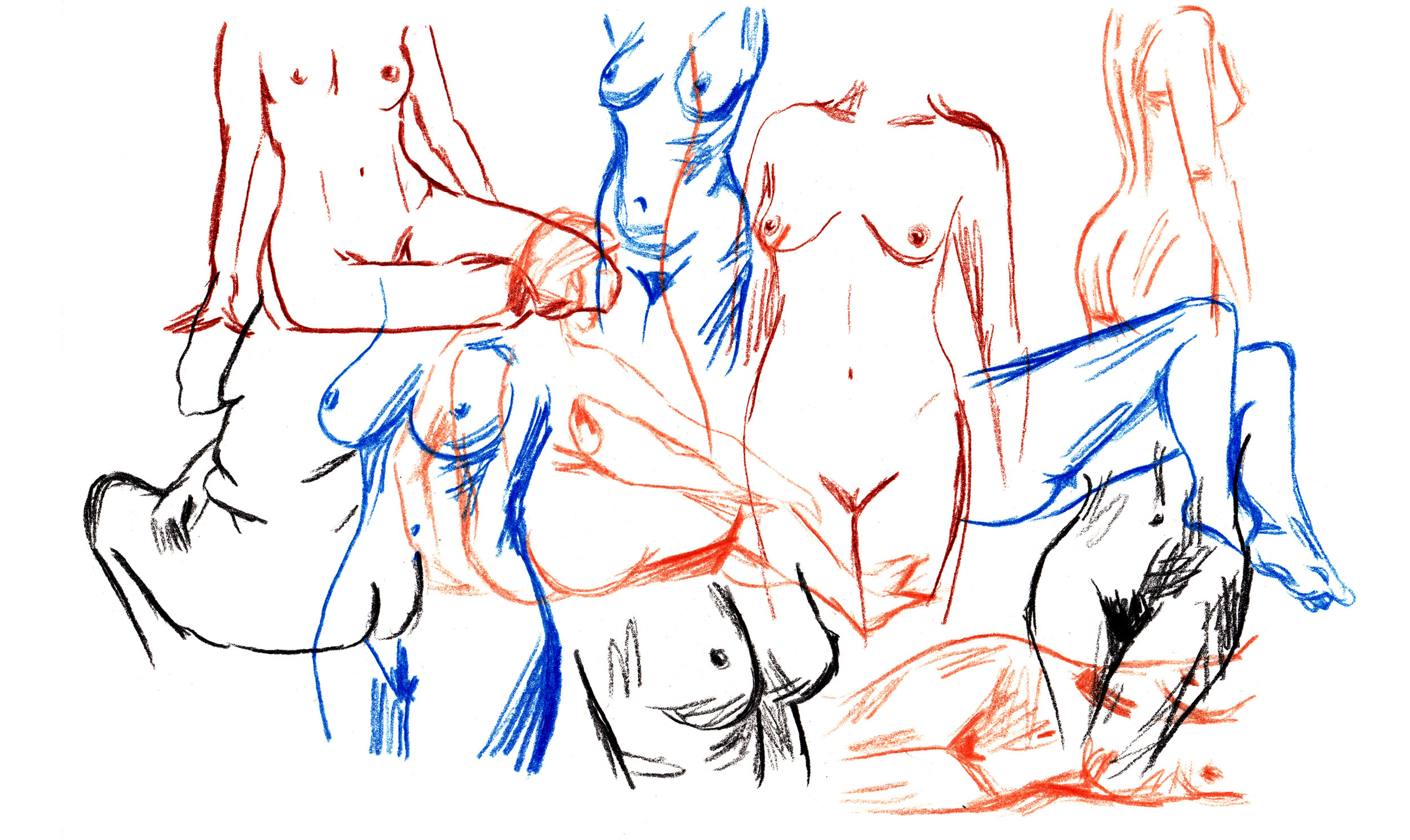Quick pencil study of female form.