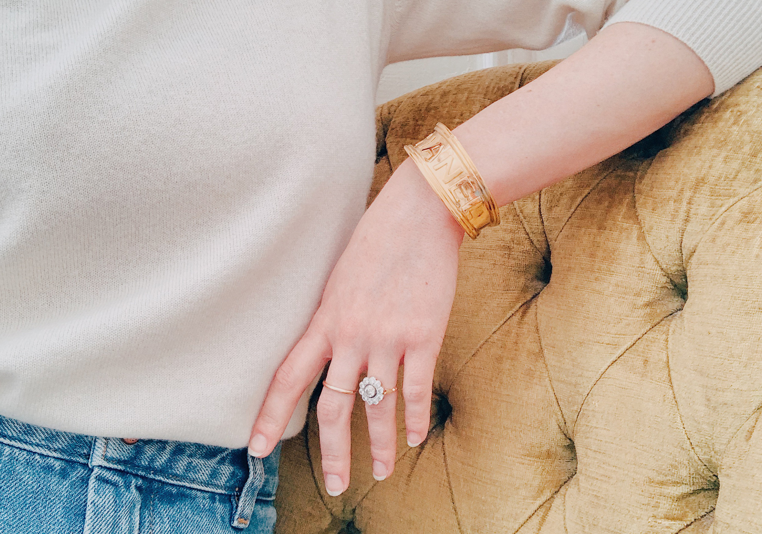 Vintage Chanel Gold Cuff Bracelet.jpg