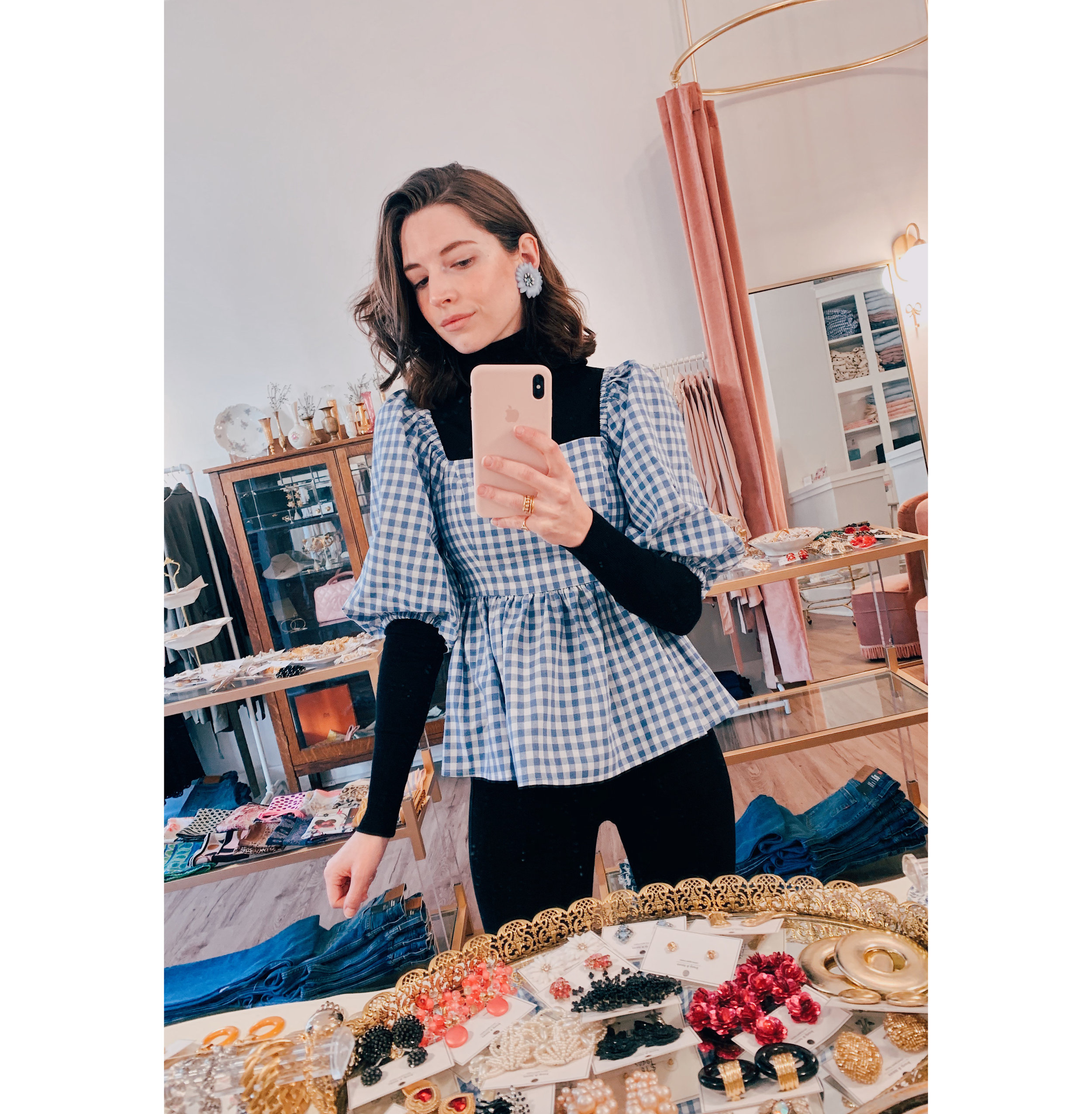 Gingham Top Selfie.jpg