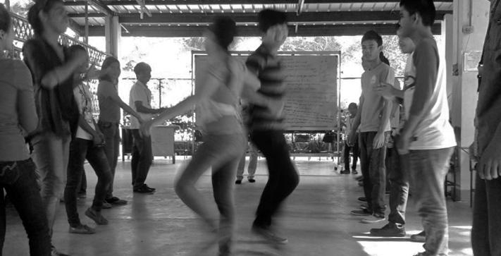 LP students learning a regional folk dance
