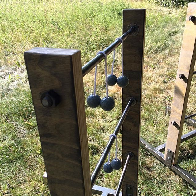 The second of five competitive Leisure Games at Timbrrr! is good ol' fashion Ladderball (aka hillbilly horseshoes... aka whatever else people call it). Better get to practicing. #weretalkingaboutpractice #notagamenotagame #practice #theleisuregames #leisuregames