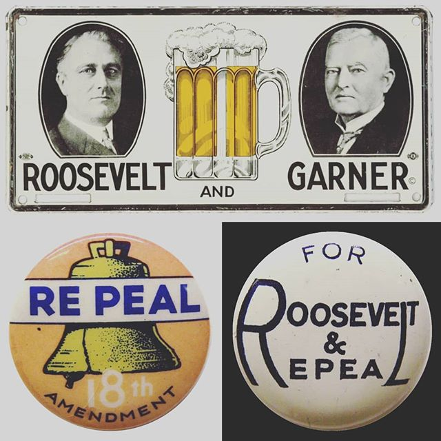 Your #vote matters. 🗳  Did you know? FDR ran for president in 1932 on a platform calling for Prohibition's appeal, and easily won victory over the incumbent President Hoover.  FDR's victory meant the end for Prohibition, and in February 1933 Congress adopted a resolution proposing a 21st Amendment to the Constitution that would repeal the 18th.  Some say FDR celebrated the repeal of Prohibition by enjoying a dirty martini, his preferred drink.  Go be heard today.  #Cheers 🍸🍻