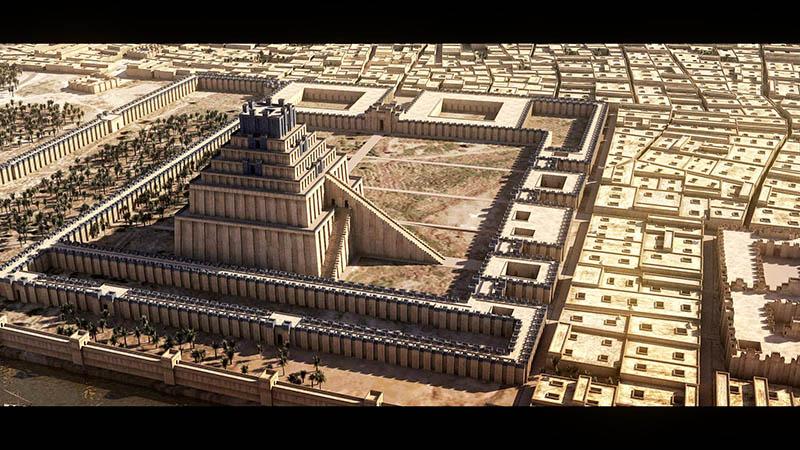 Etemenanki - the ziggurat in the city of Ur