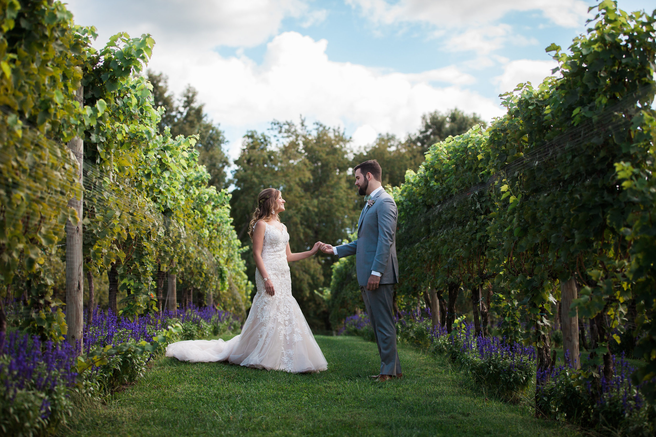 The One Moment Events - Bride and Groom in Vineyard.jpg