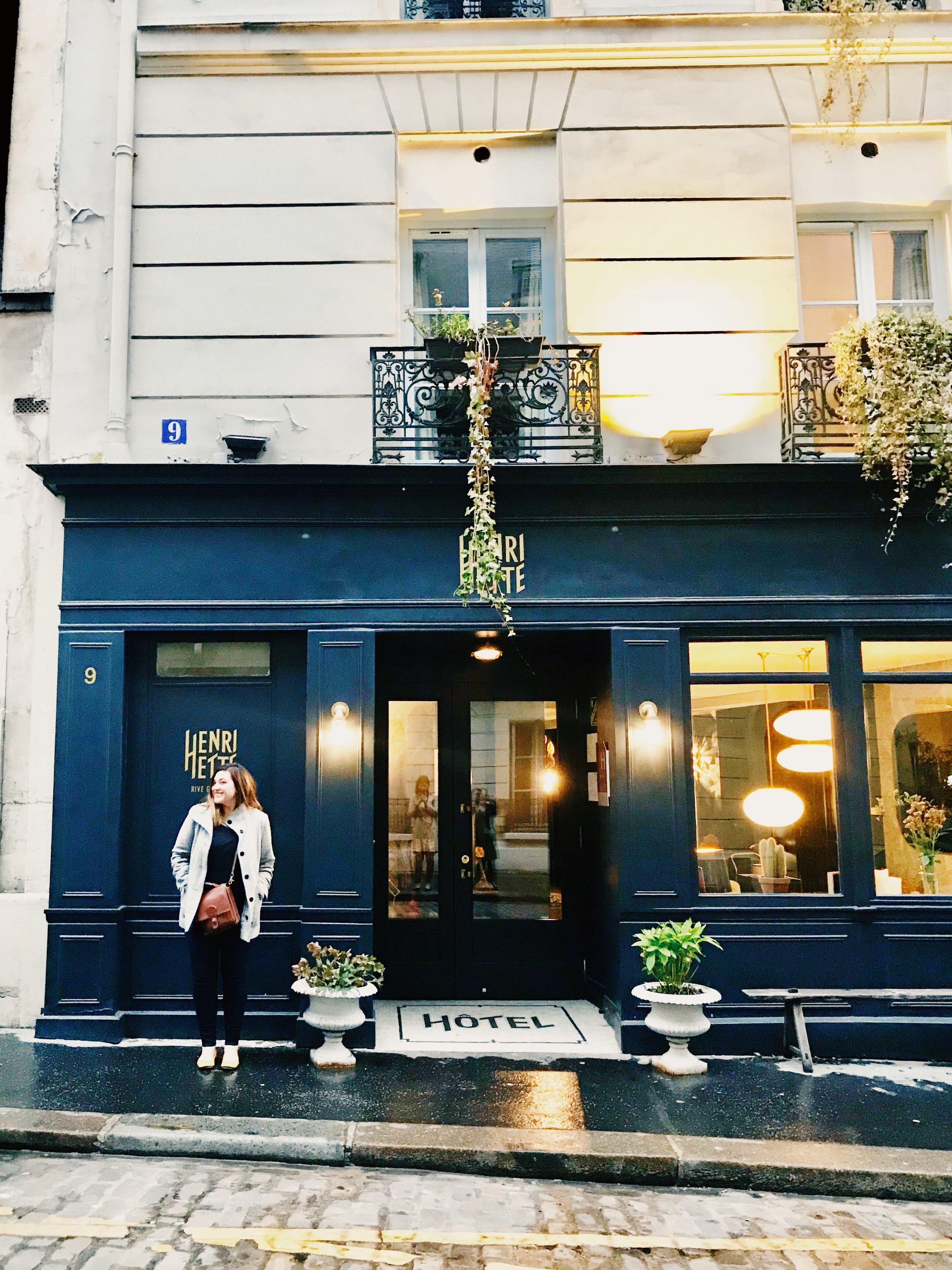 Hotel Henriette Paris Outside boutique hotel.JPG
