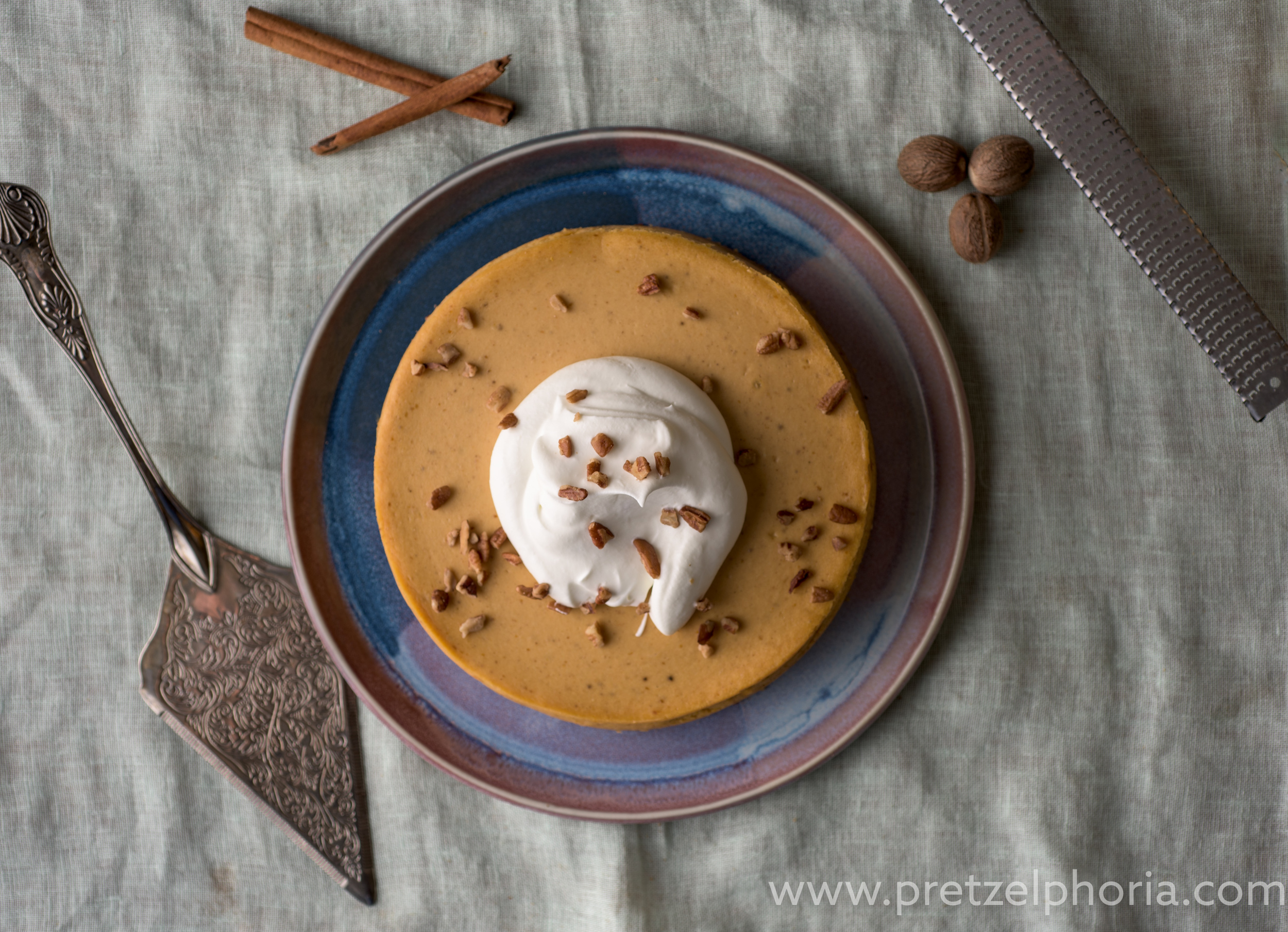 Pumpkin Pie Cheesecake with Our 4-Alarm Ginger Snap Crust
