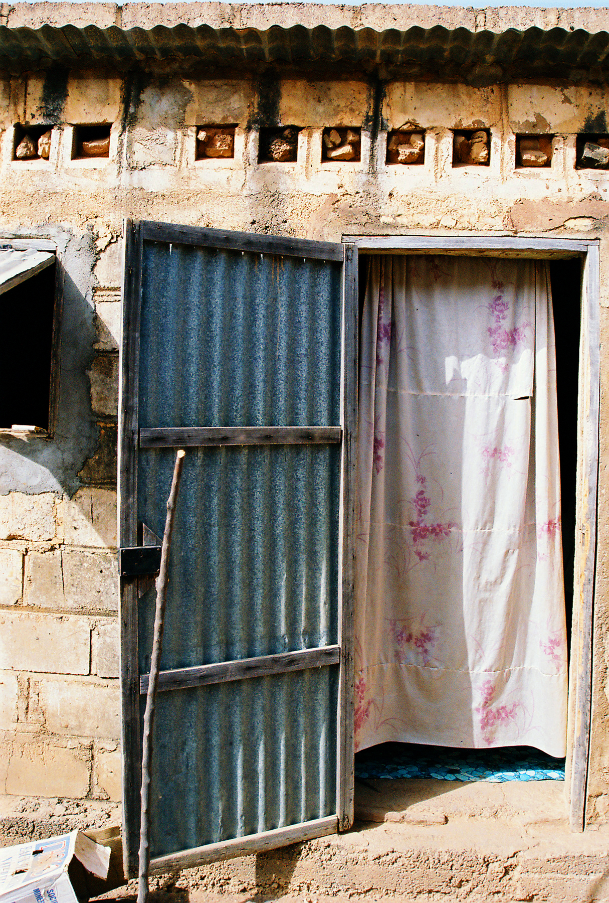 The doorway of someone's home in Mali.