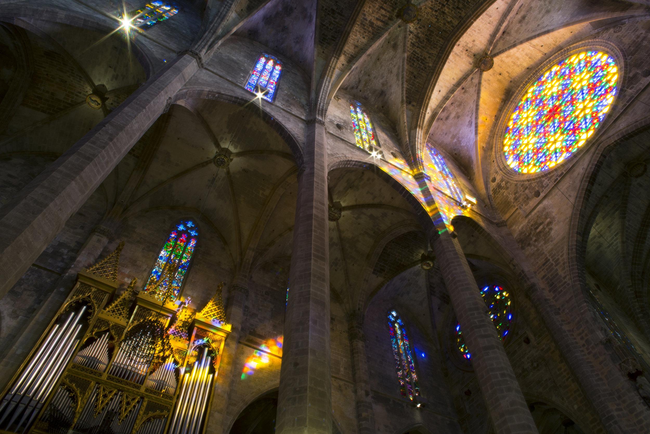 Cathedral of Santa Maria of Palma, Mallorca Spain.