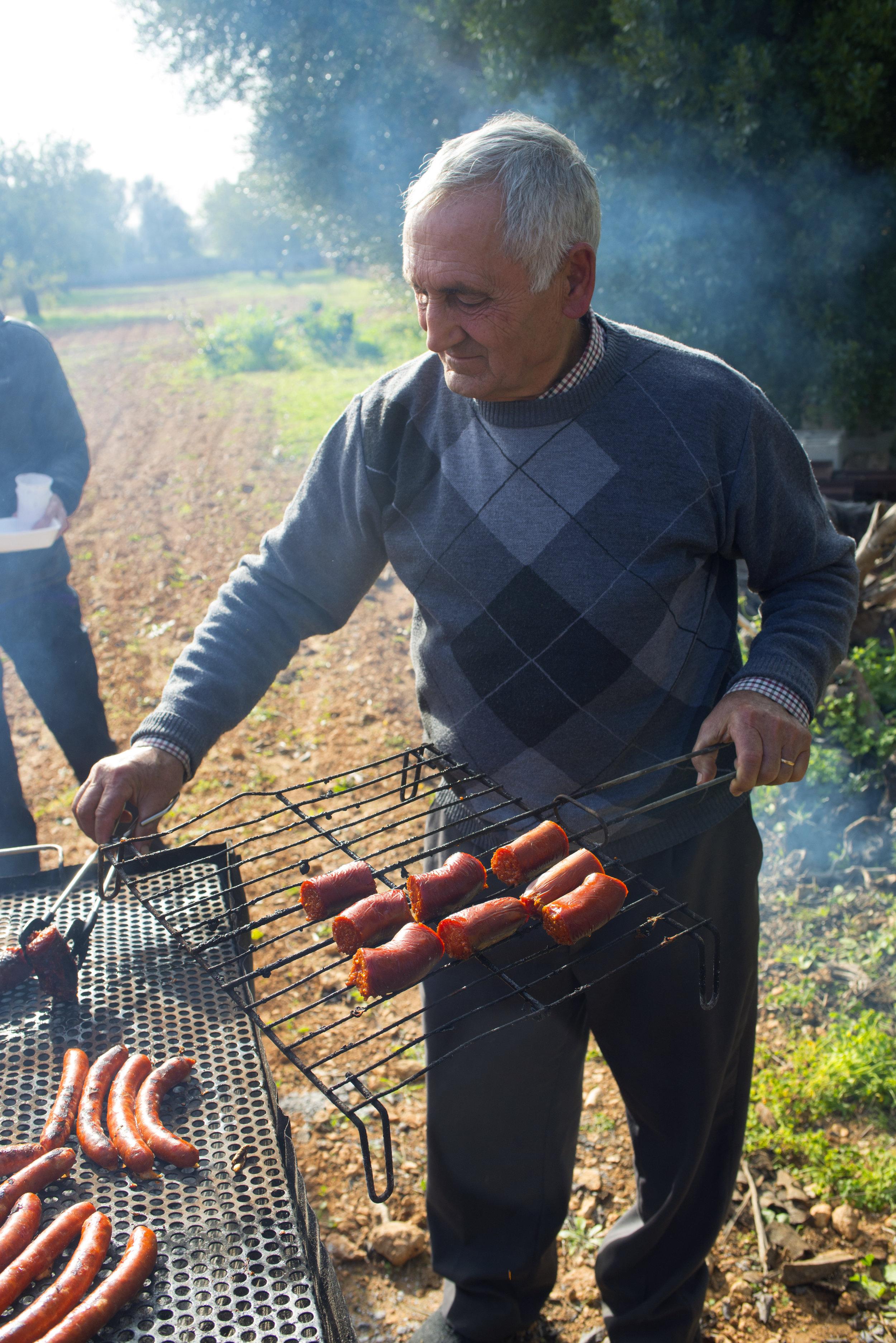Mallorcan sausage. Porreres, Mallorca Spain.