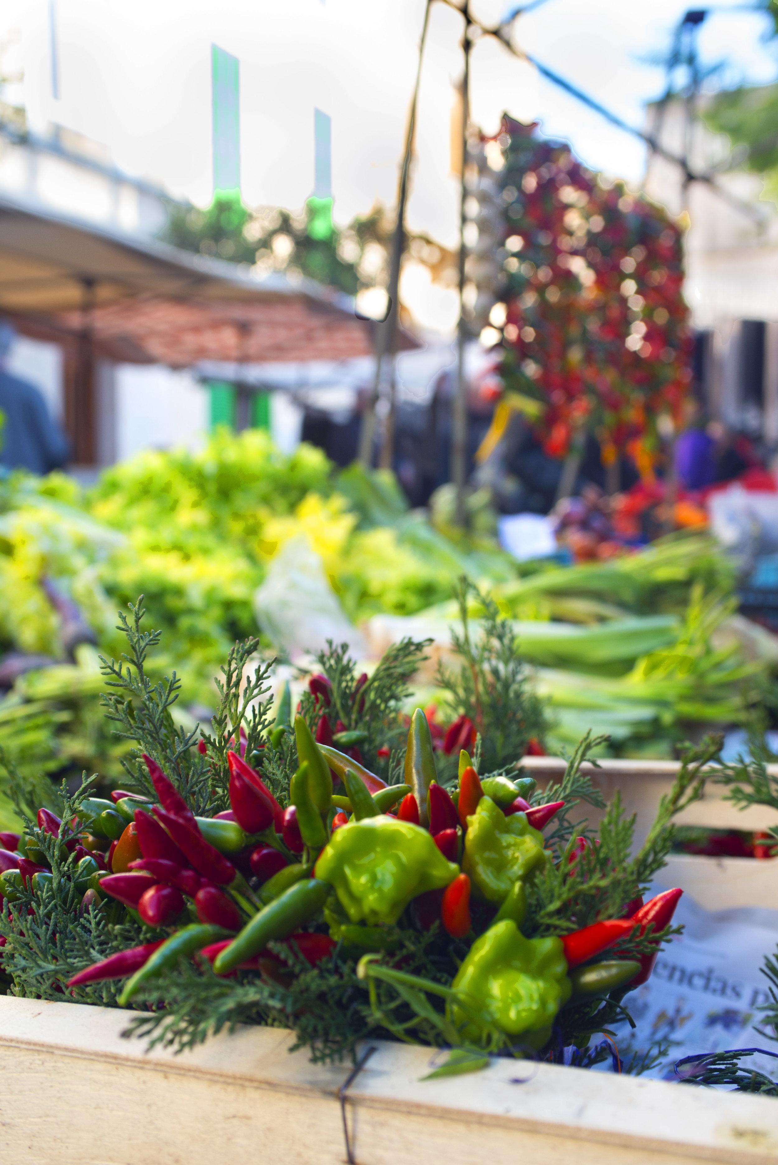 Porreres market, Mallorca Spain.