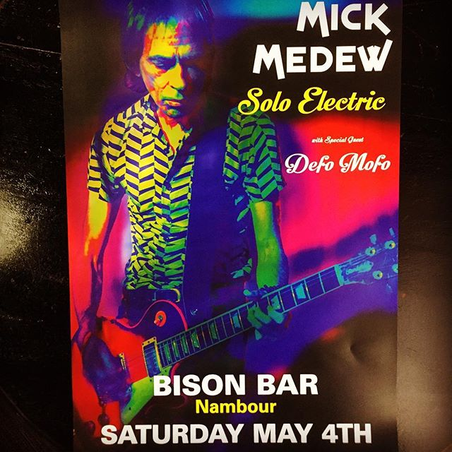 Head on down Saturday night to catch The Screaming Tribesmen's Mick Medew in an intimate solo show at The Bison Bar. Special guest-Defo Mofo. Cheers 😎🥃 . . #thescreamingtribesmen  #mickmedew #mickmedewandthemesmerisers #australianrock #australianrocknroll #aussierock #aussierocknroll #aussierocklegends #aussiepunkrock #nambour #nambourbynight #yesitsinnambour
