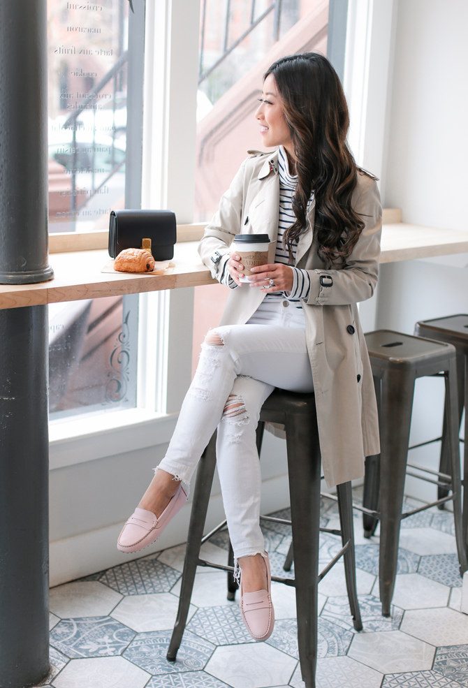 blogger style trench coat