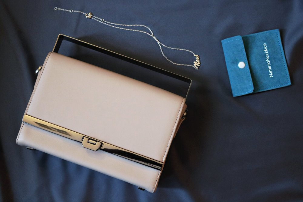 Charles-keith-bag-silver-necklace