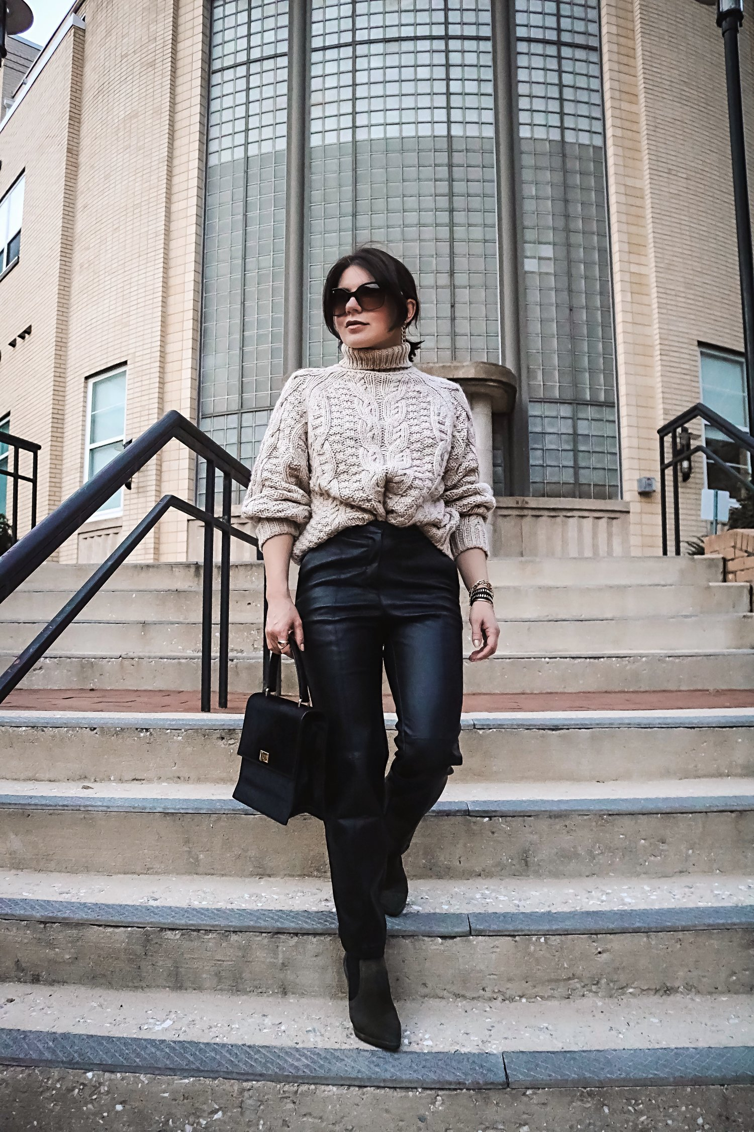 street-style-leather-pants-sweater