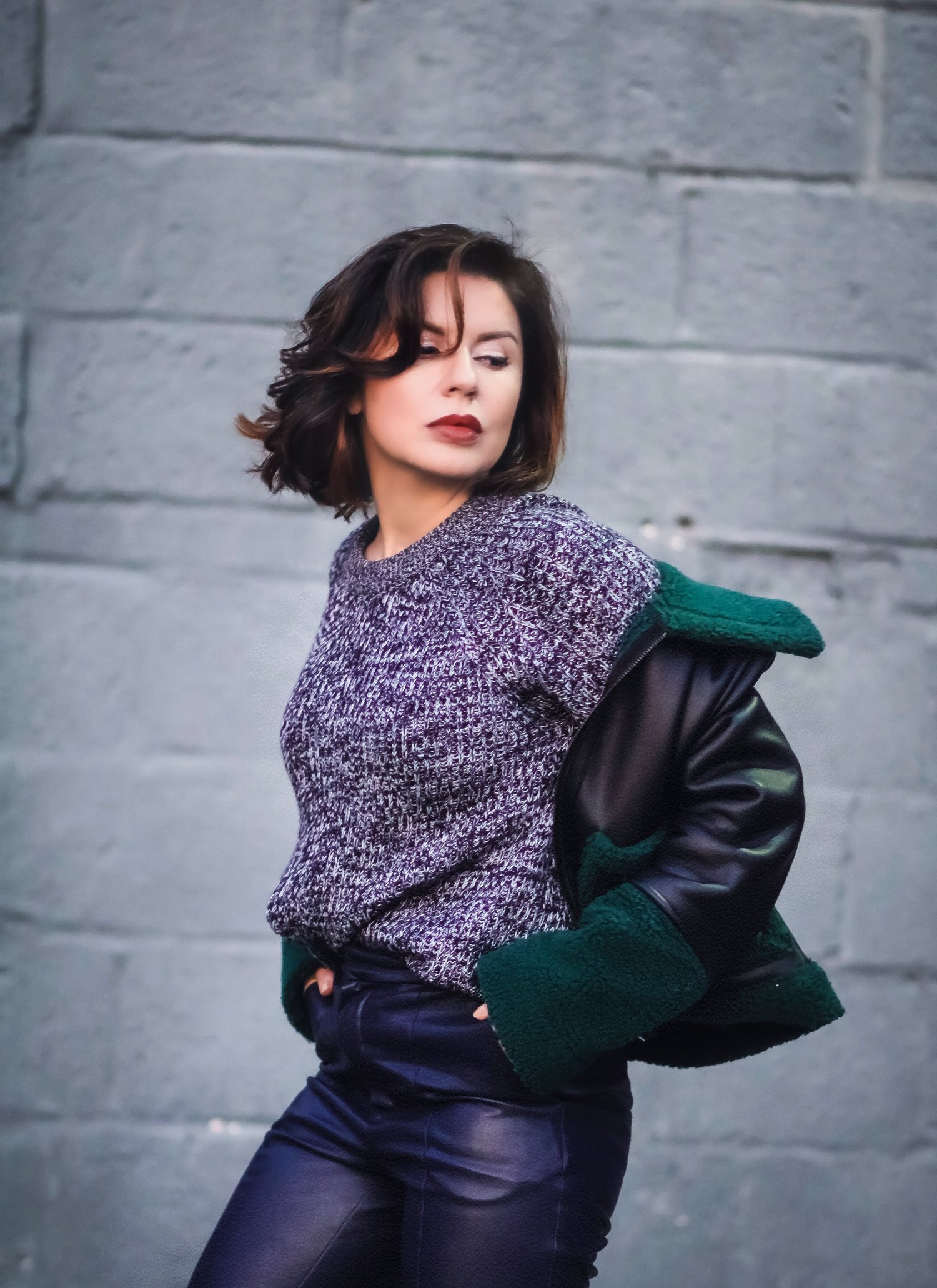 marled-sweater-leather-pants-outfit