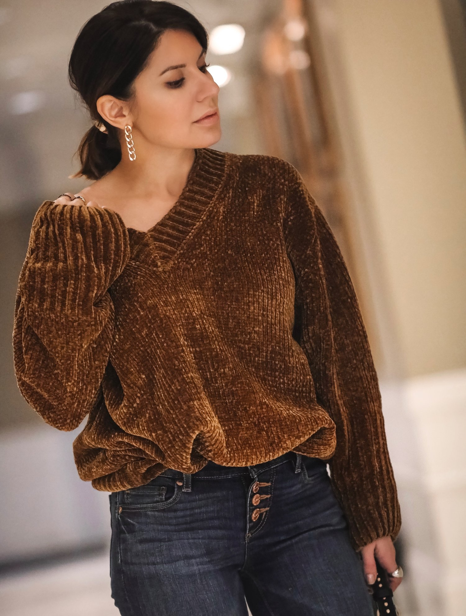 brown-chenille-sweater-ootd