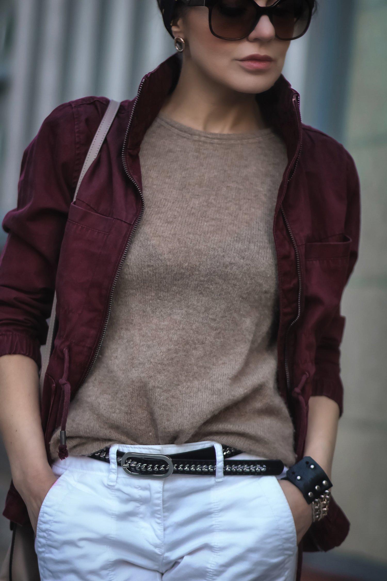 Isabel-Alexander-Old-Navy-burgundy-jacket-camel-cashmere-top