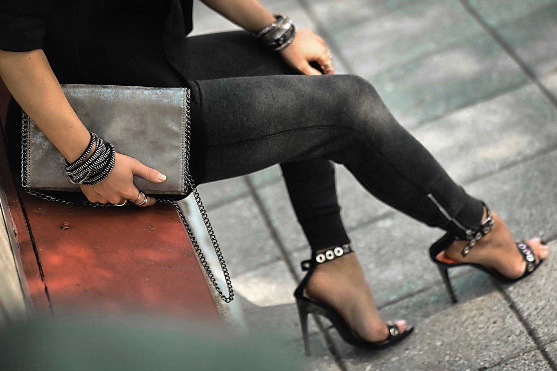 Proenza Schouler Grommet Heels Chain Bag Details Street Style Isabel Alexander