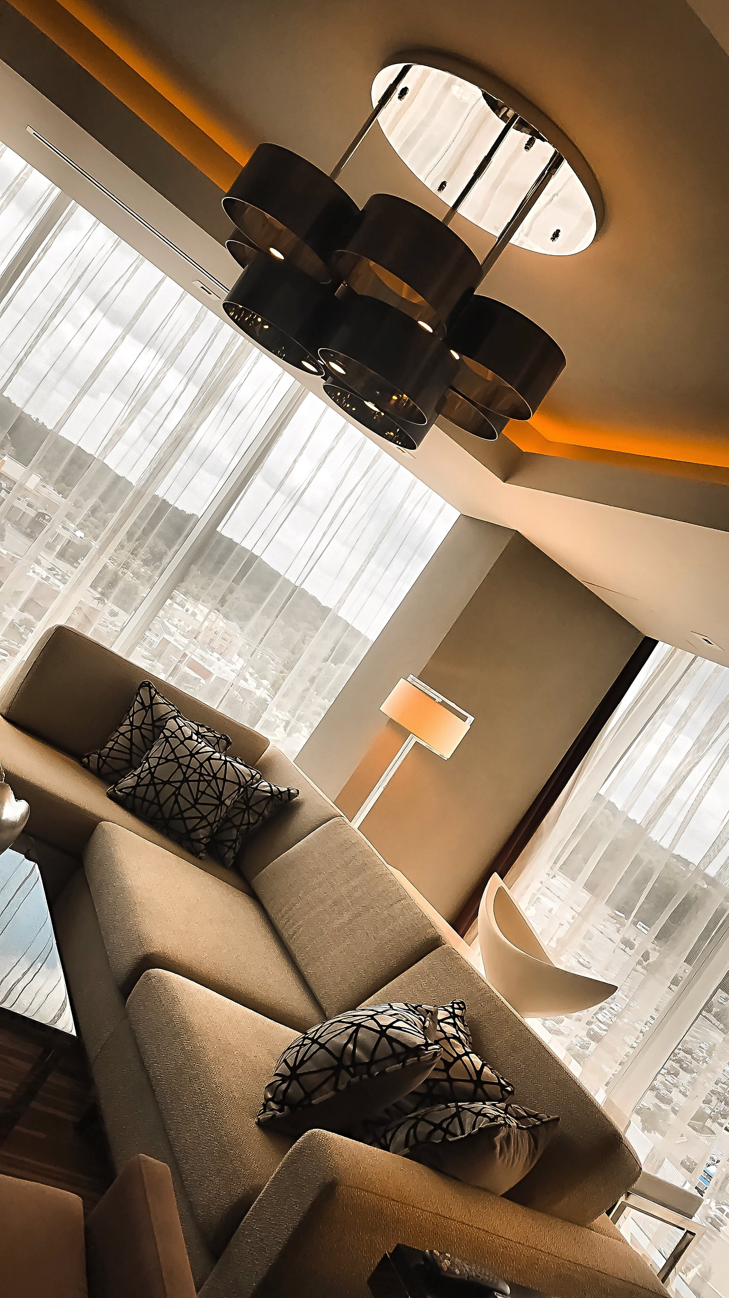 Live Hotel Casino Presidential Suite Living Room Sofa View Isabel Alexander