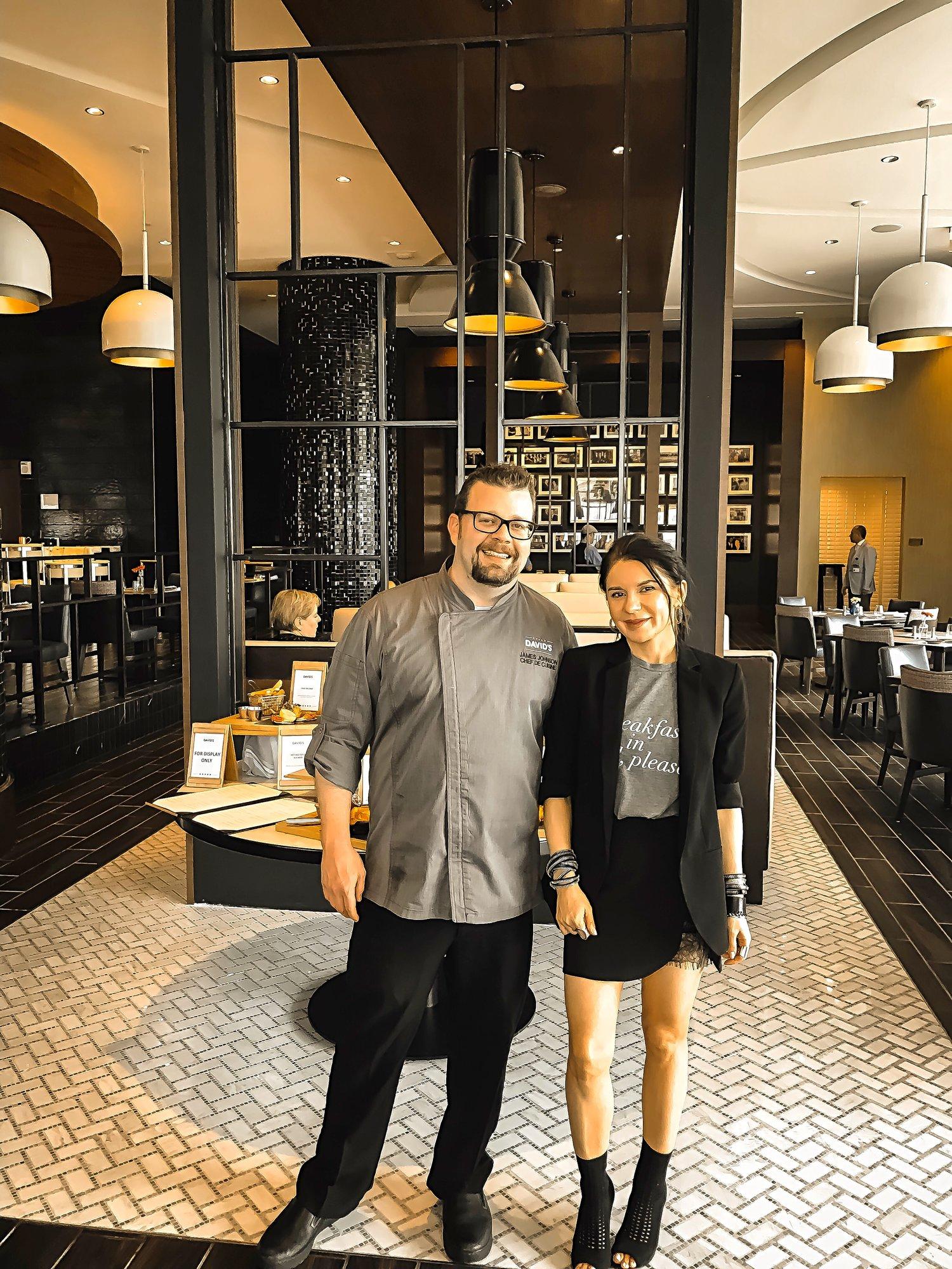 Live Hotel Casino David Chef Isabel Alexander Posing After Tasting Menu
