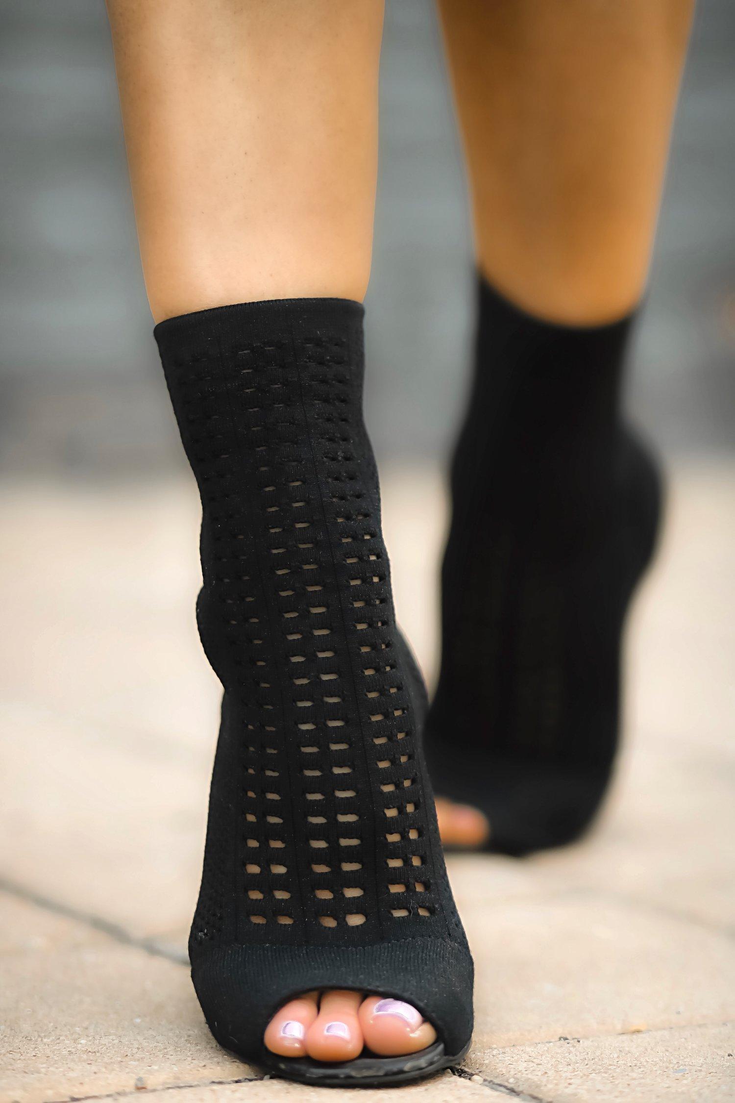 Charles David sock ankle boots close up Isabel Alexander