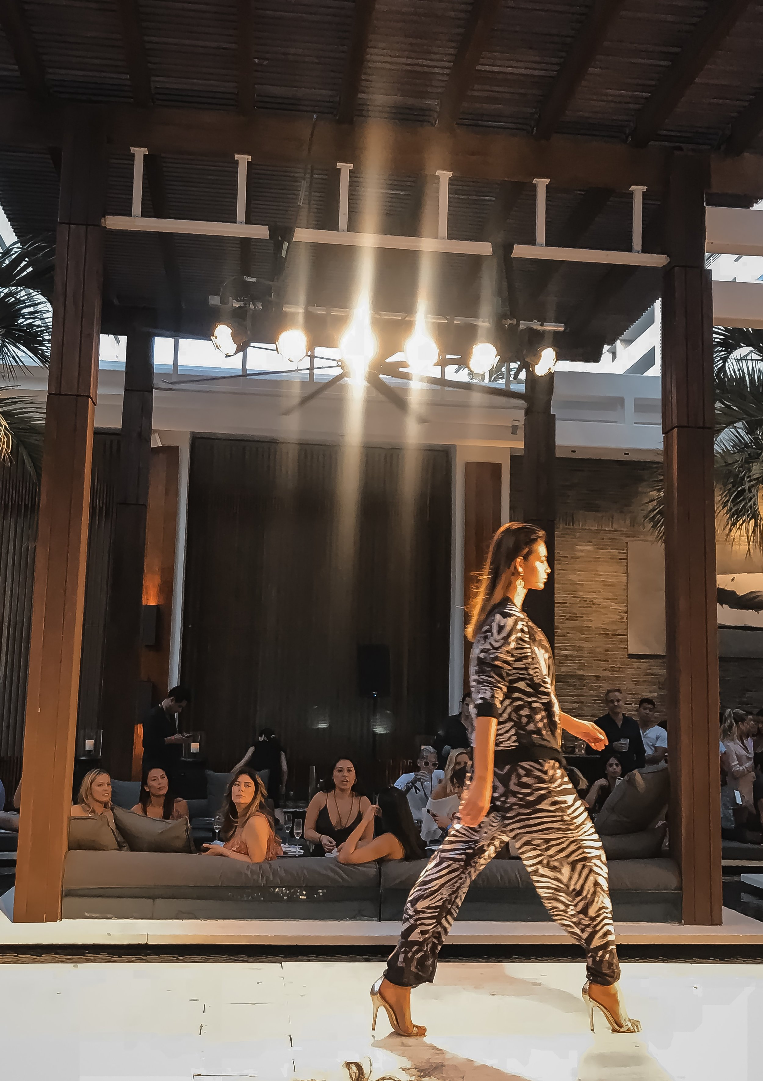 Aqua Blue Zebra Print Miami Swim Week 2018