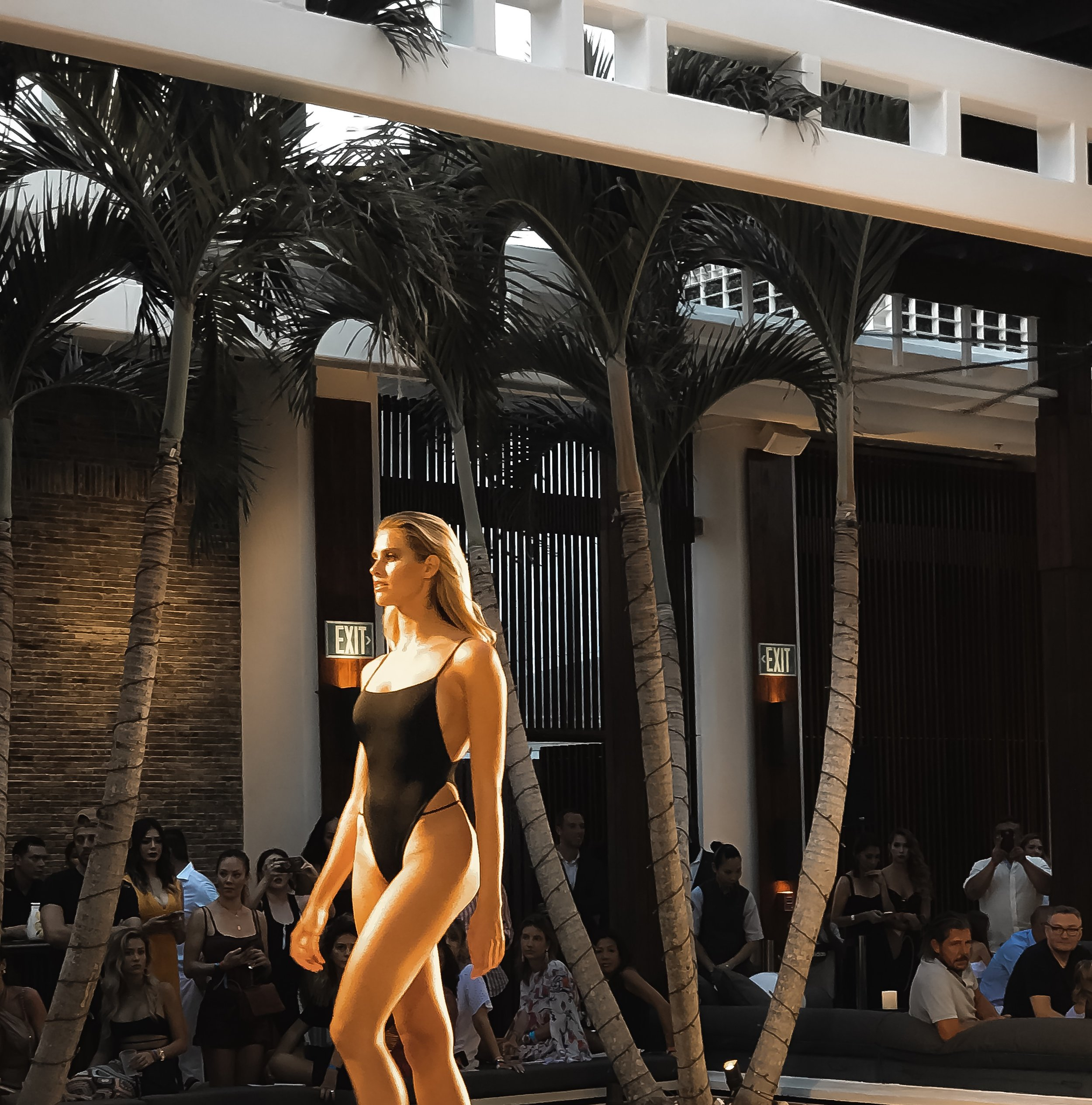 TJ Swim Black monokini side strap Miami Swim week 2018