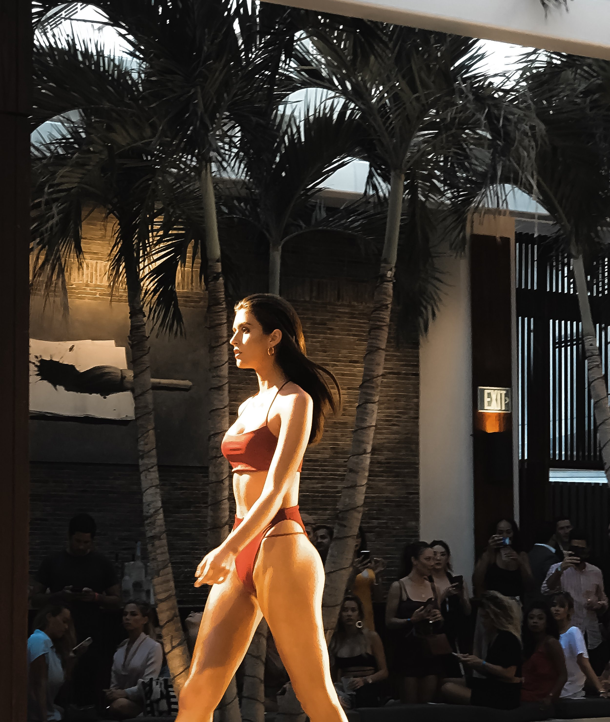 TJ SWIM Red Bikini side details Miami Swim Week 2018