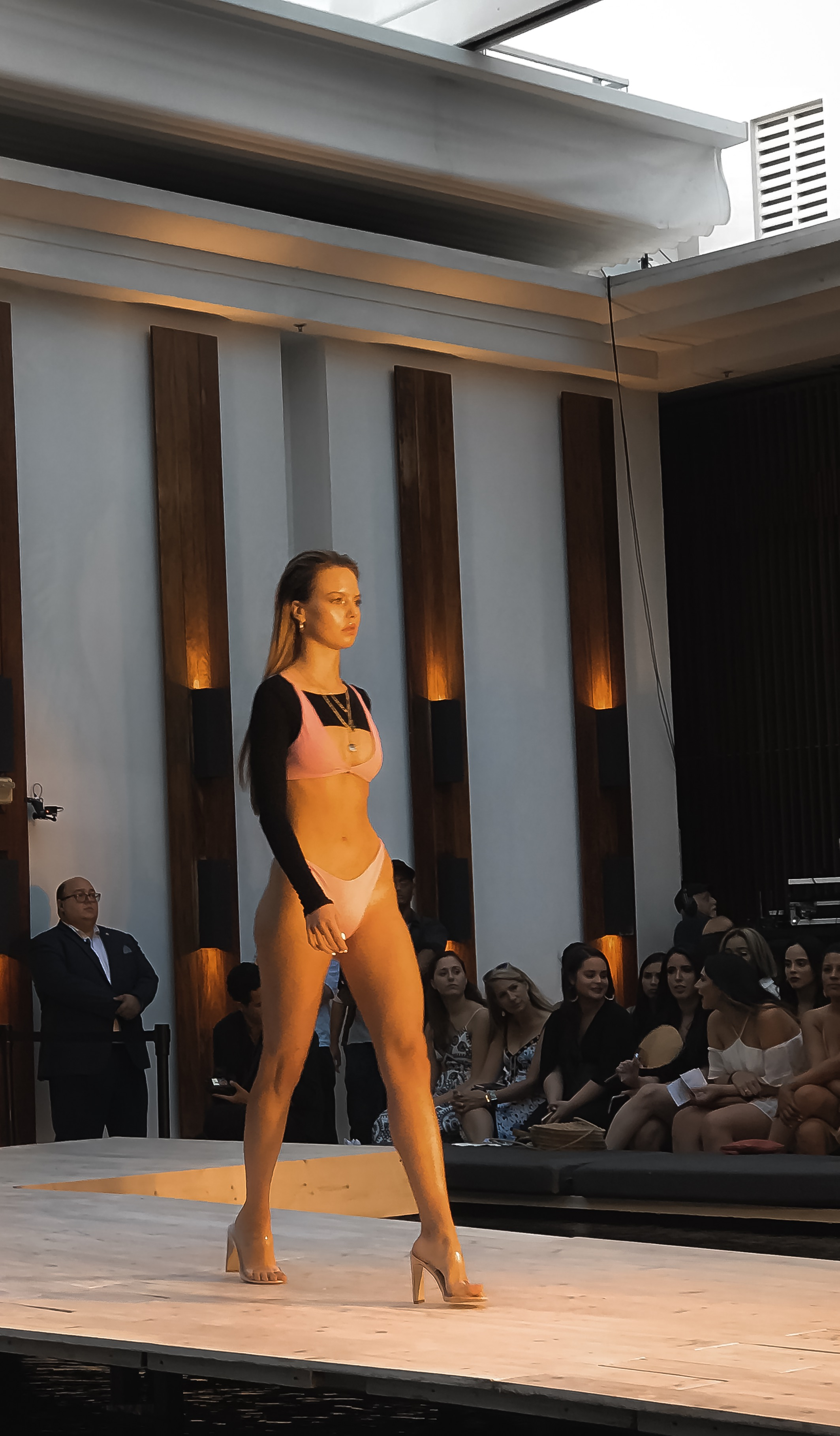 TJ SWIM pink bikini black top Miami swim week 2018