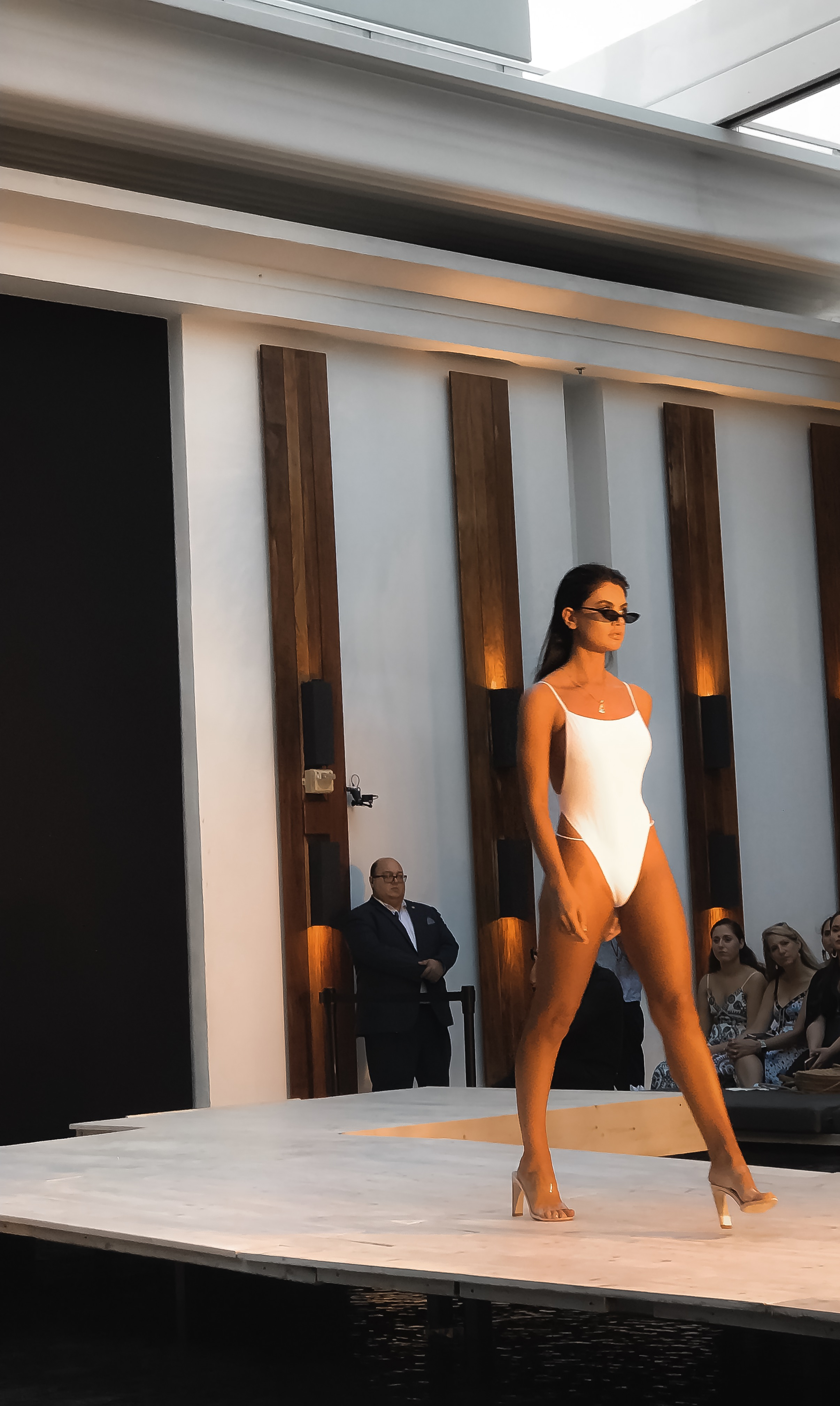 TJ SWIM white swimsuit Miami Swim week 2018
