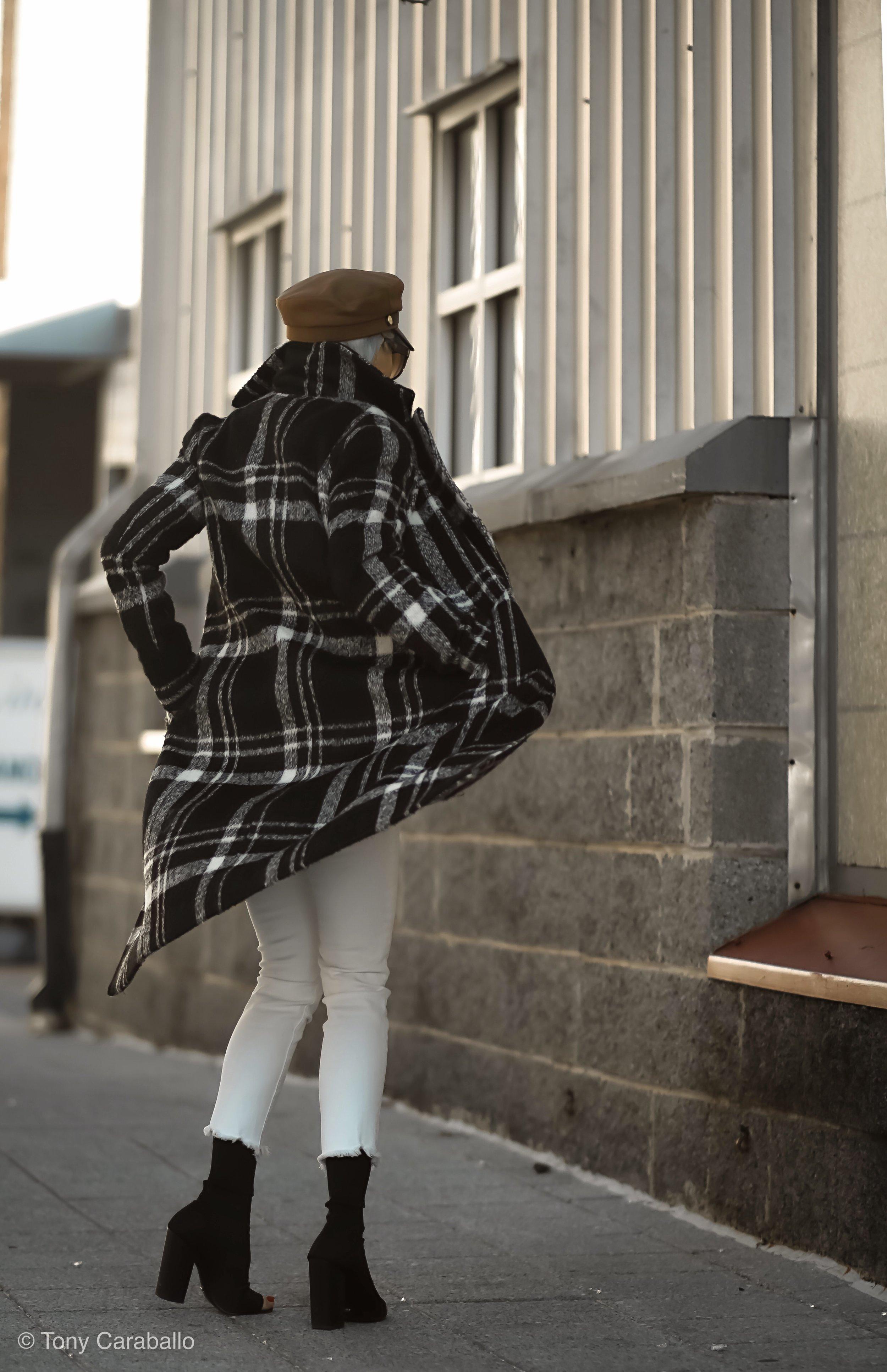 Isabel Alexander About US plaid coat back