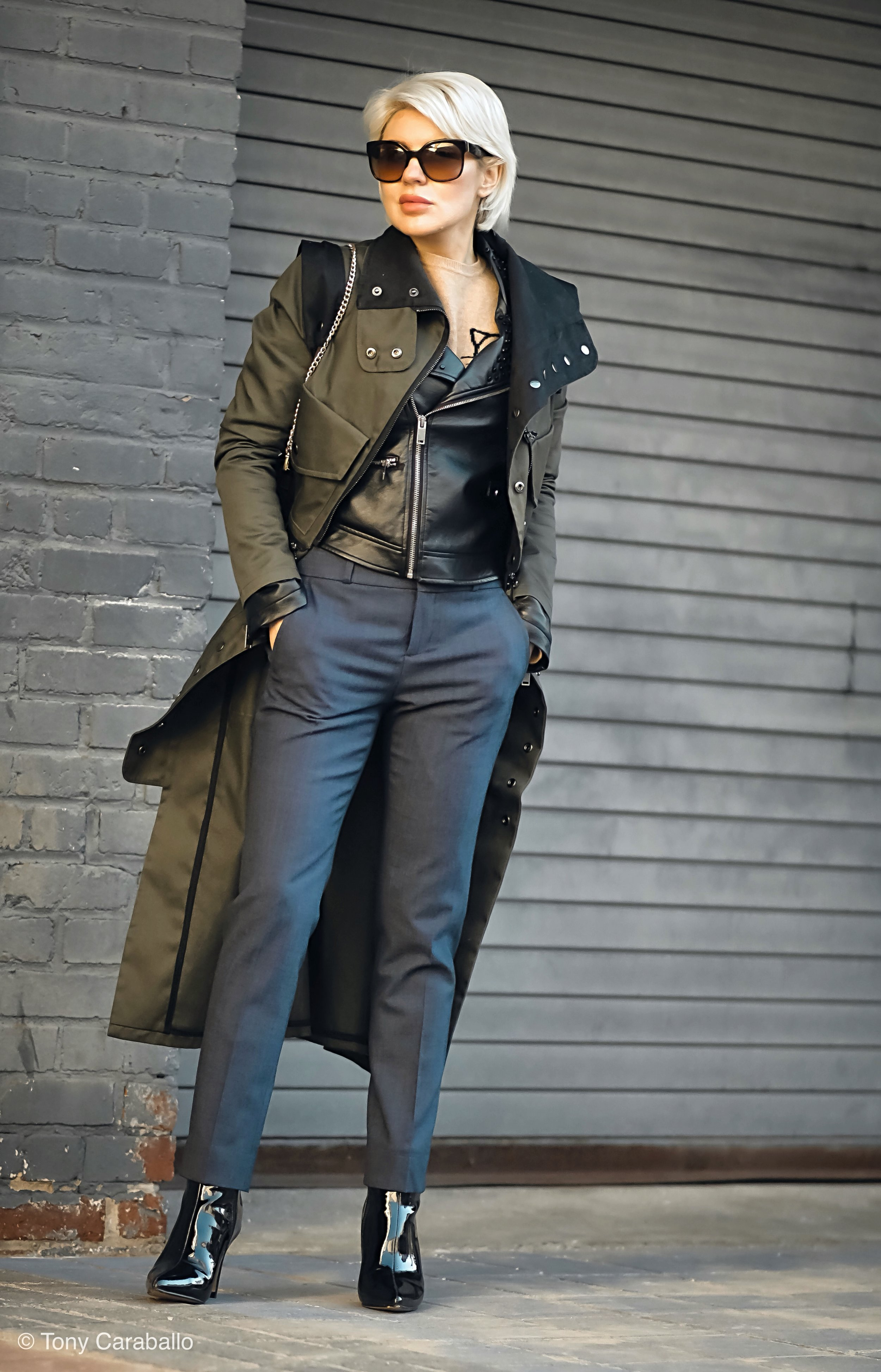 Clothia Womenson Leather jacket full body